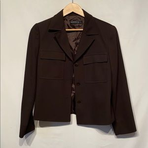 Brown Lafayette 148 New York Wool Blazer Size 10